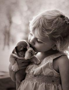 kiss- sooooo sweet! 2 pretty babies!