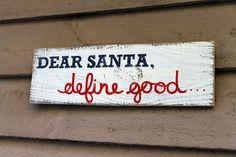 dear santa reclaimed wood sign