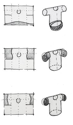 Make/use no waste pattern concepts: cropped t shirt - diagrams to show the principle of seam alignments changing the shape of this simple no-waste garment.