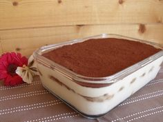 Tiramisu au chocolat (recette Tupperware)