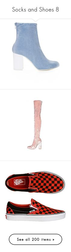 """""""Socks and Shoes 8"""" by shantelie ❤ liked on Polyvore featuring shoes, boots, thigh boots, velvet thigh high boots, above the knee boots, thigh high boots, pink over the knee boots, grey, high heeled footwear and gray shoes"""