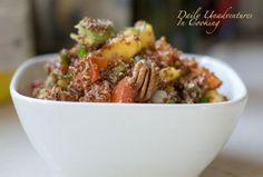 Red Quinoa Salad with Mango, Avocado, and Pecans