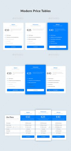 Modern Price Tables — PSD Template #price table #tables • Download ➝ https://graphicriver.net/item/modern-price-tables/18414914?ref=pxcr