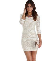 Ivory Naturally Beautiful Bodycon Dress
