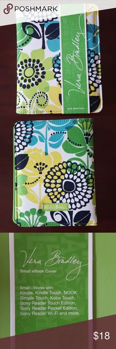 Vera Bradley ebook/kindle cover Brand new with tags! Beautiful print to store your small e reader! Measurements in pictures Vera Bradley Accessories Tablet Cases
