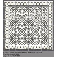 Carreau de ciment PREMIUM Normandie noir/blanc, 40 x 40 cm