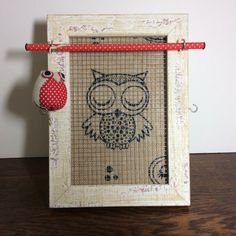 OWL themed gift, Jewelry organizer owl frame jewellery frame, gift for girl by PicToFrame