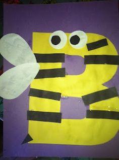 letters, kindergarten, preschool, alphabet craft, b bee craft, alphabet animals