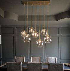 Elegant modern chandelier dining room lighting ideas for this year 21 Wood Chandelier, Globe Chandelier, Modern Chandelier, Modern Dining Room Chandeliers, Chandelier Over Island, West Elm Chandelier, Bubble Chandelier, Dining Room Light Fixtures, Dining Lighting