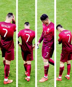 Cristiano Ronaldo of Portugal shows his dejection after the 2014 FIFA World Cup Brazil Group G match between Portugal and Ghana at Estadio Nacional on June 26, 2014 in Brasilia, Brazil.