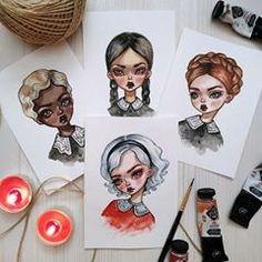 Sabrina Spellman and Weird Sisters! Audrey Horn, Weird Sisters, Illustration Art, Illustrations, Arte Sketchbook, Sabrina Spellman, Girl Sketch, Witch Art, Gouache