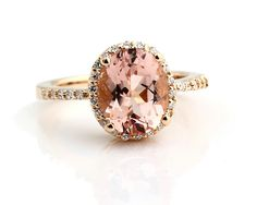 Natural Fancy Color  AAA Facet Cut Morganite  Solid 14K Yellow Gold Diamond engagement Ring Gem11 by GNGJewel on Etsy https://www.etsy.com/listing/169163079/natural-fancy-color-aaa-facet-cut