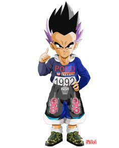 Dragonball-Fashion-Gotenks, looks so much like Vegeta