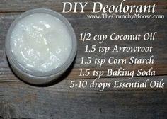 homemade deodorant www.thecrunchymoose.com