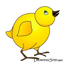 Little Cute Cartoon Chicken Drawing
