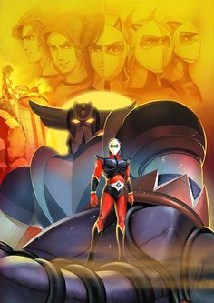 Poster du dessin animé Goldorak, Actarus & Goldorak