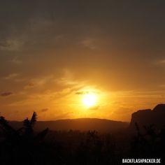 Sunset & Sonnenuntergang in Kuba vinales Tal
