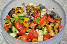 Grilled Vegetable and Tomato Bread Salad