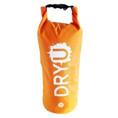 20 litre Orange DRYU waterproof dry bag. Custom printed gift idea.