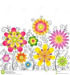 immagini fiori stilizzati - Cerca con Google