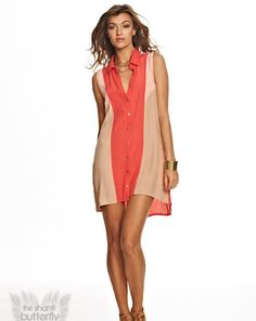 The Shanti Butterfly Santa Cruz Dress - All Tops - Clothing - Pair it with leather sandals or wedges for a casual bohemian look!