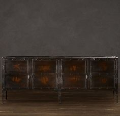 INDUSTRIAL TOOL CHEST CONSOLES    A circa 1900 toolbox from a French automobile factory inspired our expanded version, perfectly suited to life as a console or sideboard today.    See all product details.      SIZE    PRICE  $1645 ea  QUANTITY