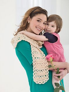 Broomstick Lace Mothers Day Scarf -  free crochet pattern by Arabia Temple for Lion Brand Yarn.