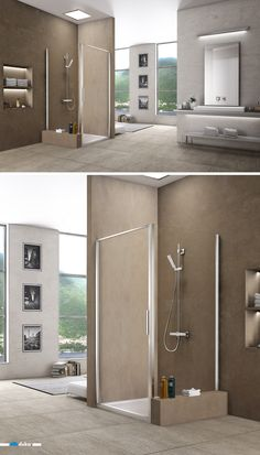 stila 2000 • this full-framed shower enclosure shows high stability and versatility in your bathroom. Note the one-piece swing door, smoothly fitting into the frame.
