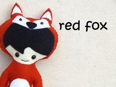 Red Fox Woodland Pals Plush Doll by MsBittyKnacks on Etsy, $15.00
