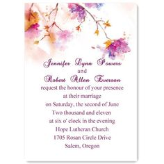 affordable purple and orange fall wedding invitation EWI211 as low as $0.94