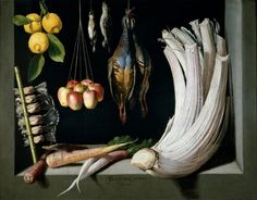 Still Life With Game Fowl, Vegetables and Fruits By Juan Sanchez Cotan - Famous Art - Handmade Oil Painting On Canvas — Canvas Paintings Spanish Painters, Spanish Artists, Painting Still Life, Still Life Art, Caravaggio, Juan Sanchez Cotan, Philippe De Champaigne, Infinite Art, Game Fowl