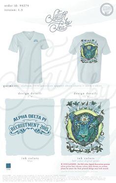 Alpha Delta Pi | ADPi | Psychedelic Lion Design | Alpha Delta Pi Recruitment |  South by Sea | Sorority Shirts | Sorority Tanks | Greek Shirts
