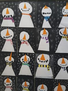 KIRKEBY: Sådan laver du en snemand... Christmas Diy, Xmas, Holiday, Diy For Kids, Crafts For Kids, Origami Folding, Holy Cross, School Art Projects, Work Inspiration