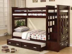 Wynn Twin over Twin Stairway Bunk Bed