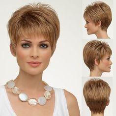 Haircuts For Fine Hair, Layered Haircuts, Pixie Hairstyles, Pixie Haircut, Cute Hairstyles, Straight Hairstyles, Light Blonde, Dark Blonde, Short Hair Cuts