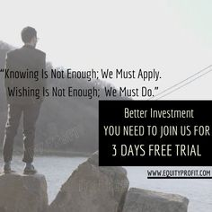 Better Investment you need to join us for 3 days free trial- WWW.EQUITYPROFIT.COM Investment Quotes, Best Investments, Enough Is Enough, Trials, Investing, Join, How To Apply, Memes, Movie Posters