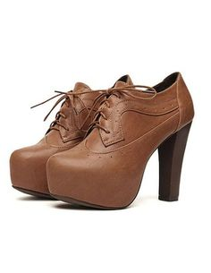 fancy me leather lace up boots @ Club Couture, $69