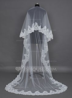 Wedding Veils - $36.99 - One-tier Cathedral Bridal Veils With Lace Applique Edge (006030981) http://jjshouse.com/One-Tier-Cathedral-Bridal-Veils-With-Lace-Applique-Edge-006030981-g30981