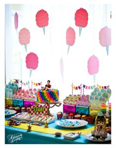 Wreck it Ralph Party Joint Birthday Parties, Birthday Bash, Birthday Party Themes, Birthday Ideas, Fourth Birthday, Wreck It Ralph, Cotton Candy Party, Party Candy, Vanellope Y Ralph