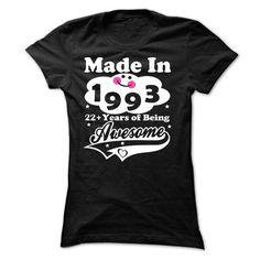1993-22 years ! - #tshirt estampadas #tshirt feminina. MORE INFO => https://www.sunfrog.com/Birth-Years/1993-22-years--Ladies.html?68278