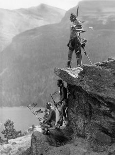 """The Eagle"" by Roland W. Reed, Circa 1910, near Glacier National Park"