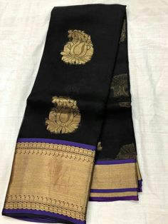 Pure Kanchi Organza Sarees with Contrast Brocade Blouse Price:4400 Order what's app 7093235052
