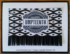 Oh My Goodies Black & White Birthday- Dena Lenneman, Stampin' Up! Demonstrator