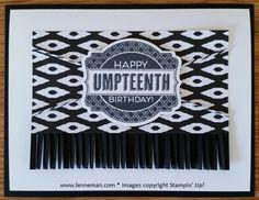 Oh My Goodies Black & White Birthday- Dena Lenneman, Stampin' Up! Demonstrator