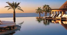 Hilton Los Cabos Beach & Golf Resort, Mexico Hotel - Infinity Pool At Sunset