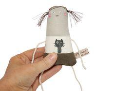 Winzige bestickt Puppe Mädchen Art Doll Miniatur OOAK von poosac