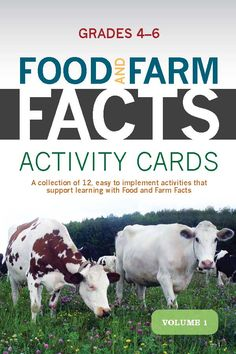 New Food and Farm Facts activity cards for grades 4-6! Available on agfoundation.org under Resources then Food & Farm Facts!