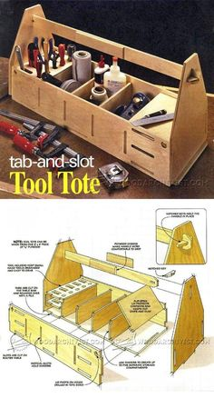 Tab-and-Slot Tool Tote Plans - Workshop Solutions Projects, Tips and Tricks | WoodArchivist.com
