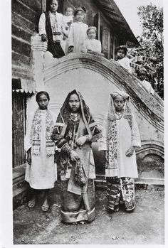 Indonesia, Sumatra. Minangkabau - Koto Gadang. Their culture is matrilineal and patriarchal, with property and land passing down from mother to daughter, while religious and political affairs are the responsibility of men (although some women also play important roles in these areas. This custom is calledAdat perpatih in Malaysia and Lareh Bodi Caniago in Indonesia.