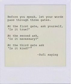 Sufi saying~